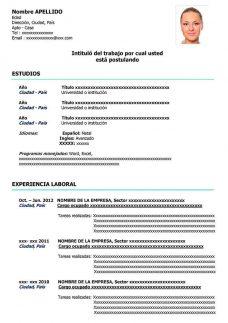 ejemplo curriculum espanol