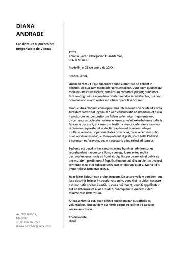 Carta De Presentación Para Curriculum Ejemplo Gratis