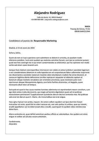 plantilla de carta de presentación de una empresa