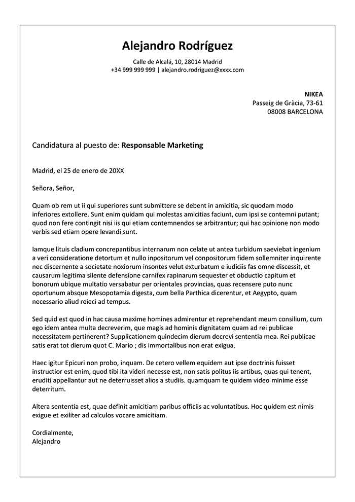 plantilla de carta de presentaci u00f3n de una empresa