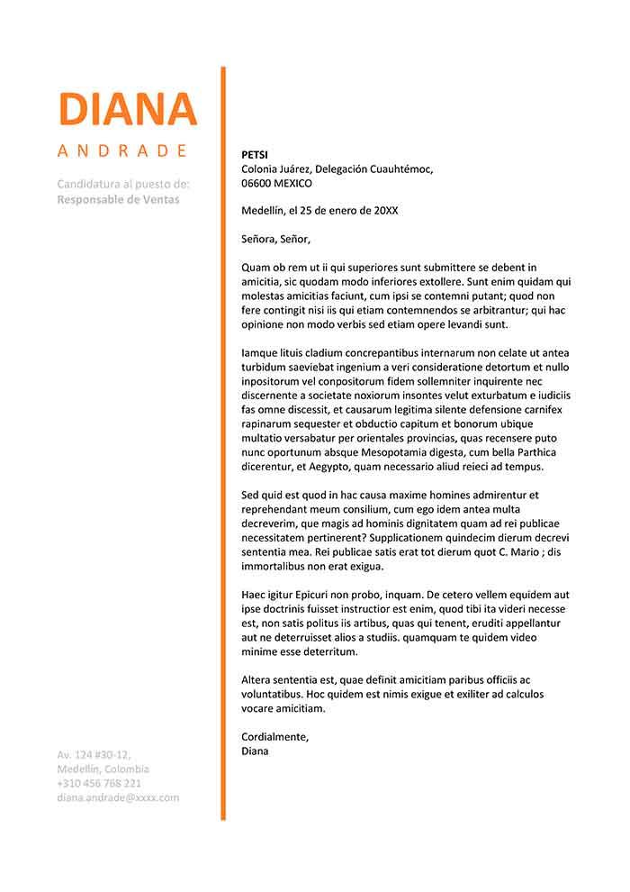 Plantilla De Carta De Presentación Para Trabajo Carta Word