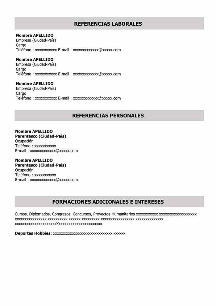 Machote De Curriculum Vitae Para Llenar Word Machote Cv