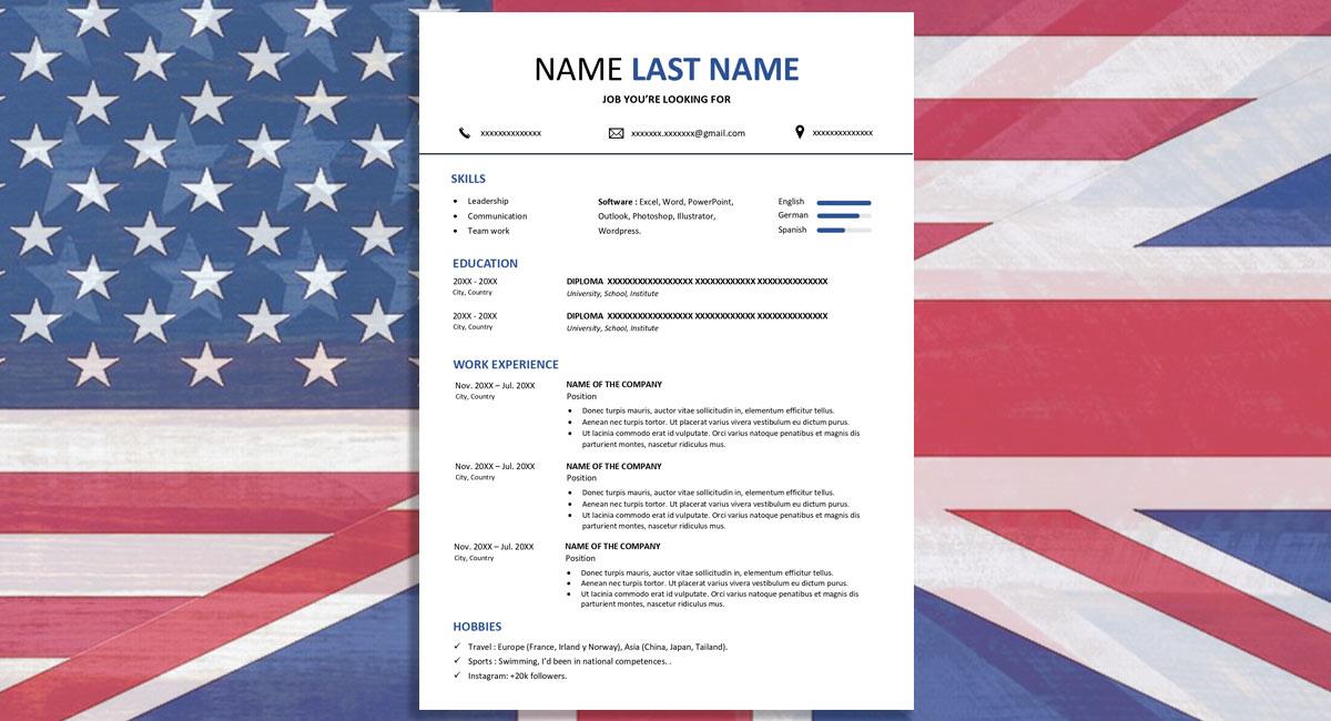 Cómo hacer un Currículum Vitae en inglés