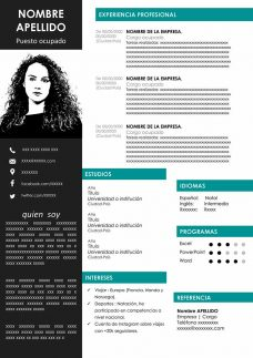 original template cv word