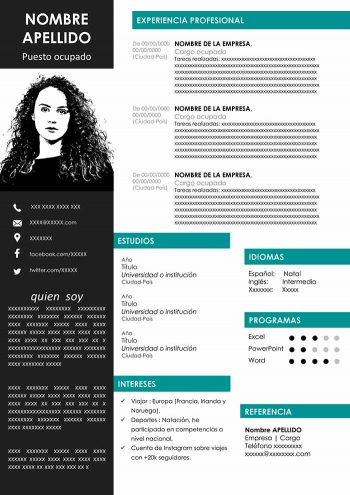 template cv free word