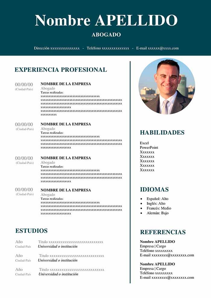 ejemplo curriculum abogado