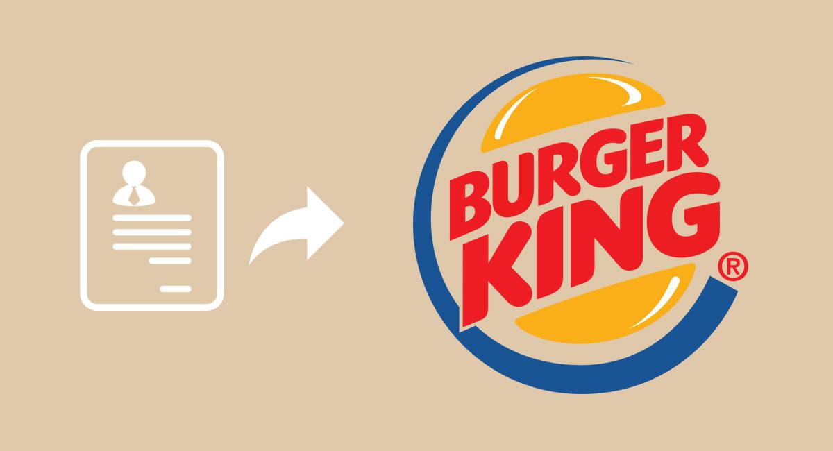 enviar curriculum vitae burger king
