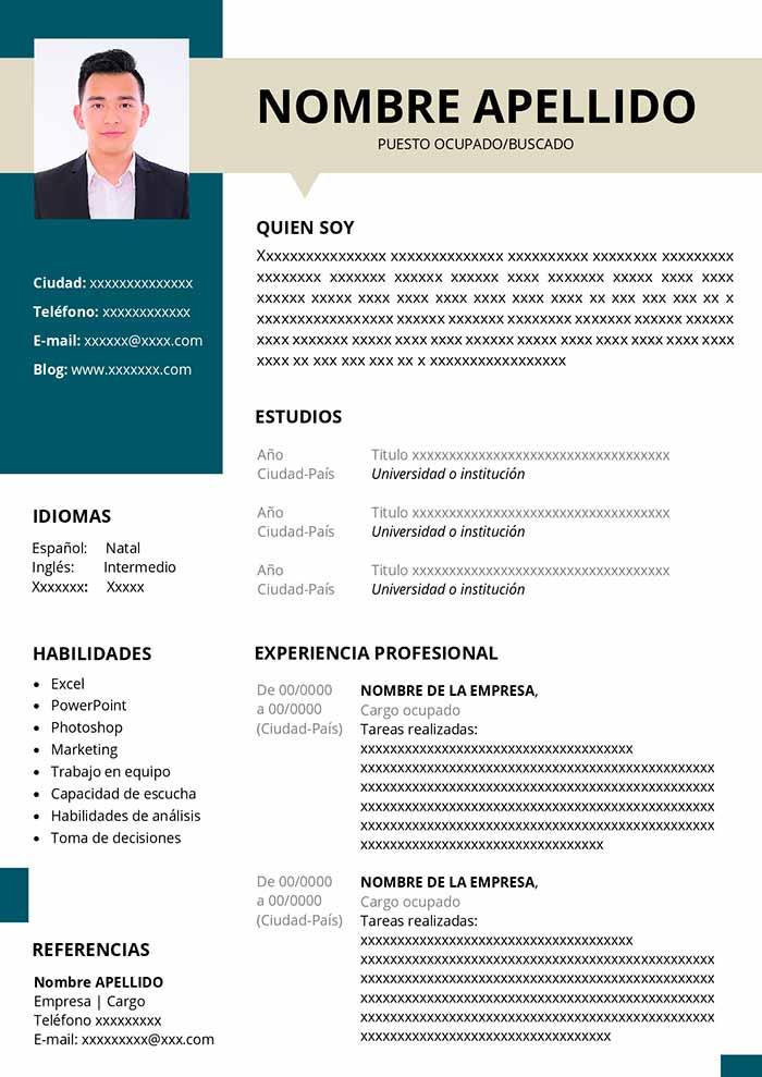 Ejemplo De Currículum Para Recién Egresado Plantilla Gratis