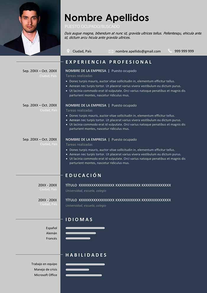 curriculum-elegante-profesional-gratis