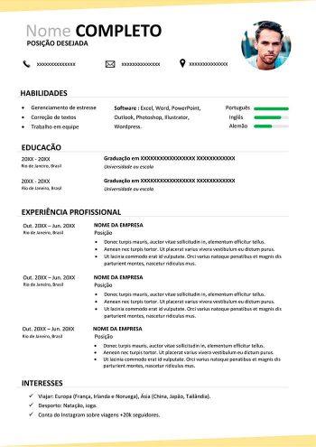 curriculum vitae brasileiro