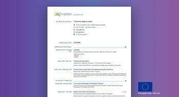 editar curriculum vitae europass